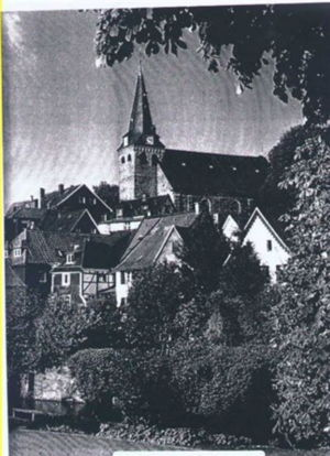 Church where Peter Quattlebaum Anna Barbara Von Der Hutte were married in Kettwig Germany in 1723, as it appears today