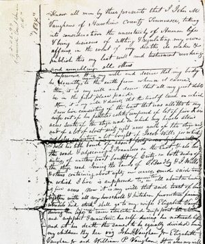The Will of John Vaughan