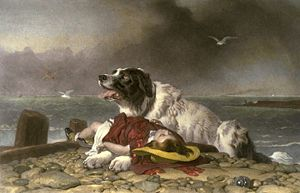'Saved' by Sir Edwin Henry Landseer