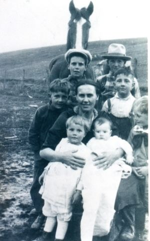 Nell Cox and children