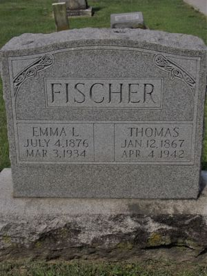 Headstone of Thomas FISCHER