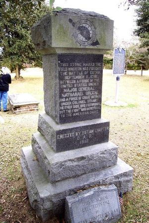 DAR Monument at the Battle of Eutaw Springs