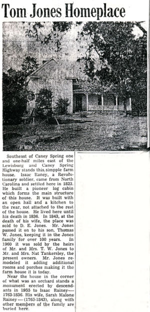 Isaac Rainey House Article