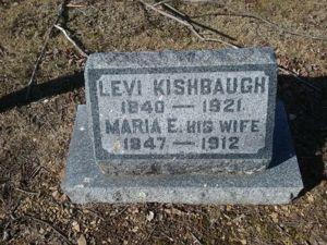 Levi and Maria Miller Kishbaugh gravestone
