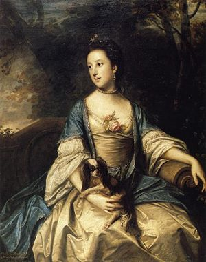 Caroline, Duchess of Marlborough, by Sir Joshua Reynolds.