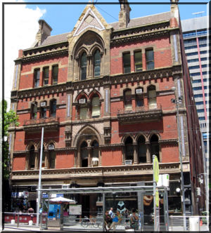 Melbourne Tramway & Omnibus Co. Building 669-675 Bourke St. Contract-Builder Thomas Machin [c1890]