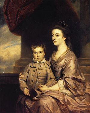 Elizabeth, Countess of Pembroke, with her son by Sir Joshua Reynolds.