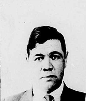 Babe Ruth 1920 Passport application photo