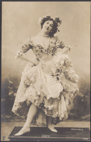 La Belle Otero, photograph by Paul Boyer of Paris