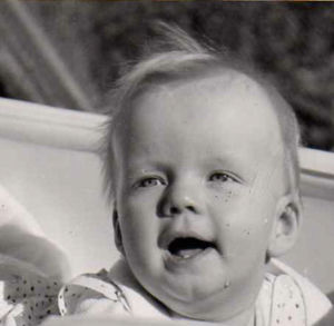 Babyface of myself in the summer of 1956