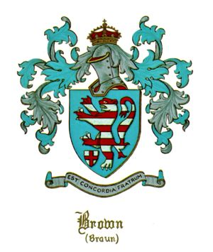 Braun (Brown) Coat of Arms