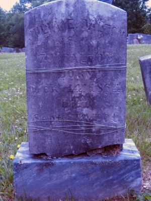 Julia Evelyn Elliott Dalton tombstone