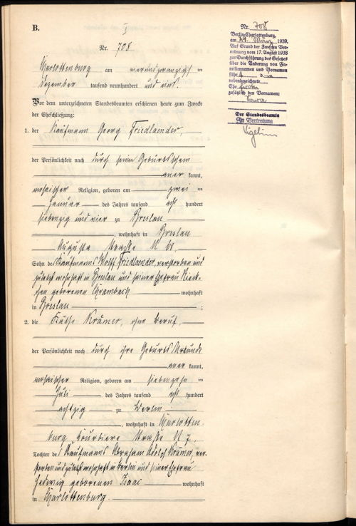 can anyone help translate this german marriage certificate