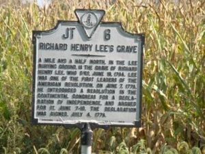 Richard Henry Lee's Grave