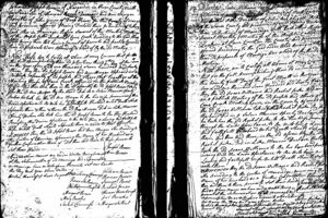Cane Creek Meeting Minutes recording the marriage of Joseph Brown and Ann Jones Morgan