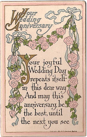 E-Card 'For Your Anniversary'