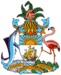 The coat of arms of the Bahamas.