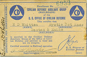 Civilian Defense Card