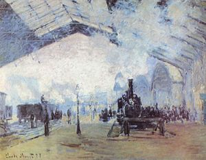 Saint Lazare Train Station, Paris, by Monet