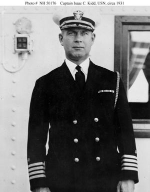 Captain Isaac C. Kidd aboard the USS Argonne