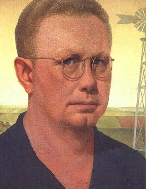 Grant Wood self portrait, 1925
