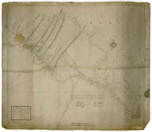 Map of the northern neck in Virginia (by Peter Jefferson, Robert Brooke, Benjamin Winslow, Thomas Lewis, 1747)