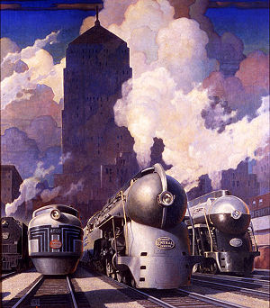 New York Central illustration by Leslie Ragan