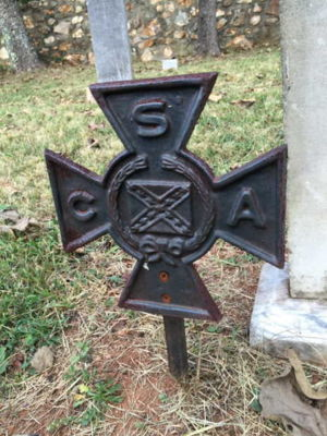 CSA Veteran gravestone memorial. Photo taken by Cynthia Denise Griffin.
