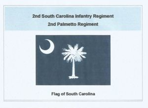 2nd Infantry (2nd Palmetto Regiment) Flag