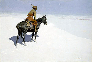 'The Scout: Friends or Foes' by Frederic Remington