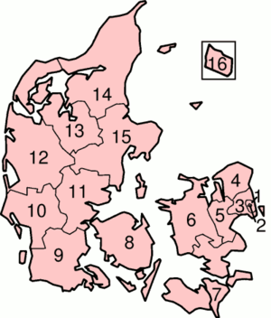 Denmark Amter (Counties) Map 1970-2006 from Wikipedia