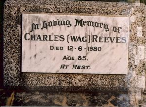 Grave of Wag Reeves