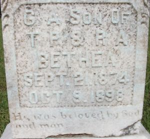 George Bethea Headstone