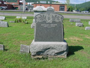 Mathias Brown gravestone