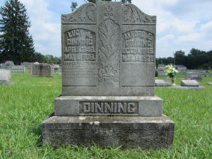 Grave stone for A E Dinning-141 & Lucy Brizendine-171