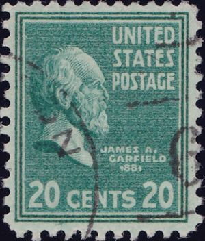James A Garfield 20 Cents US Postage