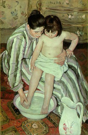 The Child's Bath by Mary Cassatt