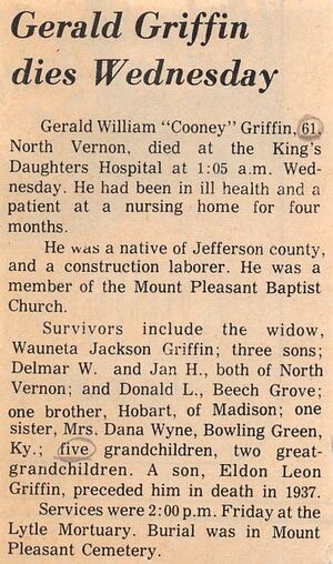 Obituary - Gerald William Griffin