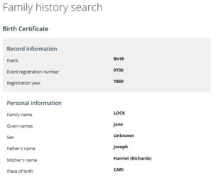 Free Family History Search