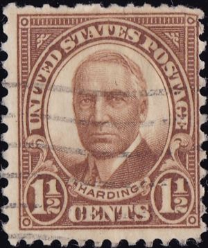 Harding 1 and half Cents US Postage