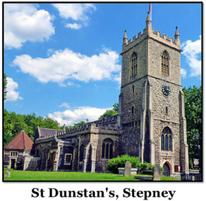 Their marraige was at -------------------- St Dunstan's, Stepney -