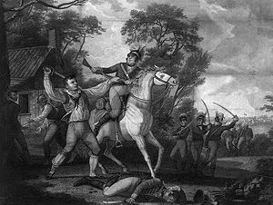 Peter Francisco fighting Tarleton's cavalry