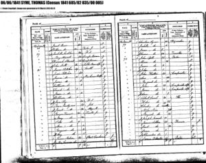Thomas Syme 1841 Census; Traveller