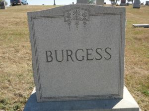 William Burgess gravestone (1941-1918)