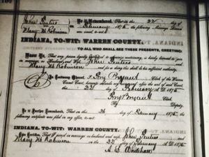 Marriage of Mary Robinson and John  Fenters