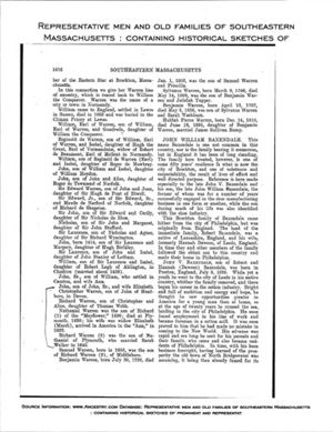 Representative Men and Old Families of Southeastern Mass, p 1476