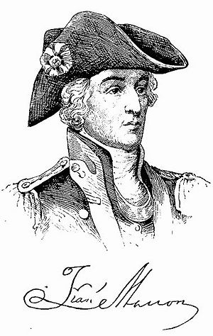 Signed Drawing of Francis Marion.
