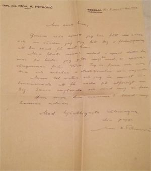 Letter 1953 November 2 from Momcilo