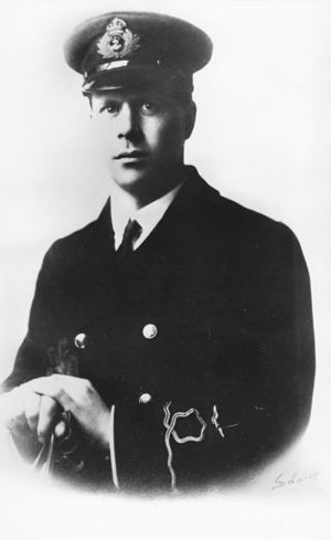 Photograph of Barnes Wallis in RNV uniform