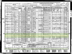 1940 United States Federal Census__Thomas E Ennis
